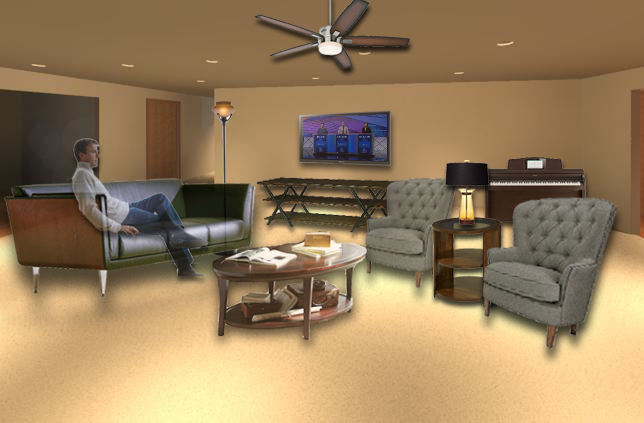 Living Room Perspective PHOTOSHOP